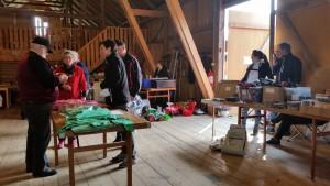 Många hade hyrt ett bord inne på logen